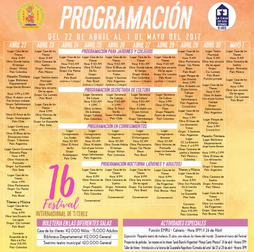 16 Festival Internacional de Títeres