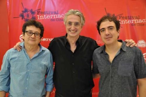 Luis Ospina y Óscar Ruiz Navia, en la inaguración de FICCALI